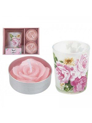 Mum in a Million Rose Tealight Candle Set