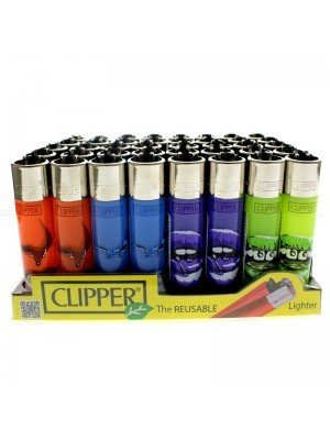 Clipper Reusable Lighter - Piercings (Assorted Designs)