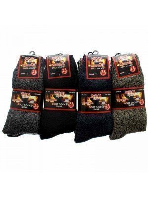Wholesale Men's Wool Blend Thermal Boot Socks - (Size: UK 6-11; EUR 39-45)
