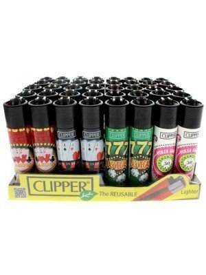 Clipper Reusable Lighter - Casino (Assorted Designs)