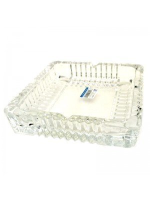 Wholesale Qianli Crystal Natural Type Glass Ashtray Square