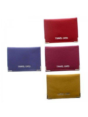Genuine Leather Travel Card - Assorted Colours