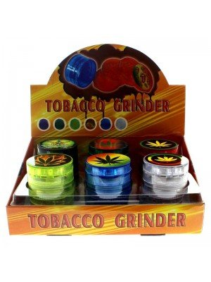 Sparkys 4-Part Plastic Tobacco Grinder - Assorted Designs