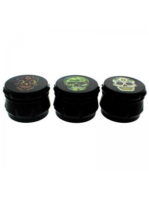 Skulls 4-Part Metal Tobacco Grinder - Assorted Designs