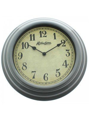 UV Finish Grey Wall Clock - 30cm