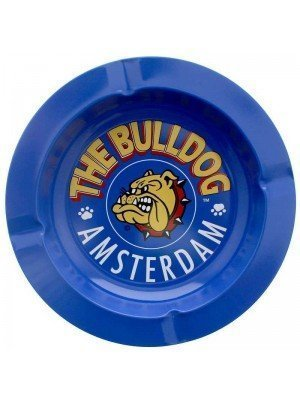 The Bulldog Metal Ashtray - 14cm (Assorted Colours)