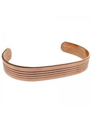 Copper 13mm Ribbed Bangle - Large