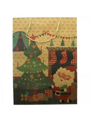 Christmas Scene Print Gift Bag