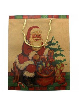 Father Christmas Print Gift Bag