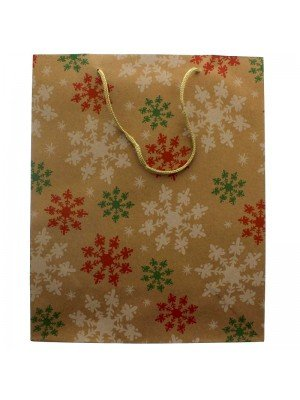 Natural Kraft Paper Snowflake Gift Bag