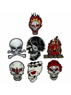 Wholesale Skulls Design Iron-On Patches - Assorted Designs