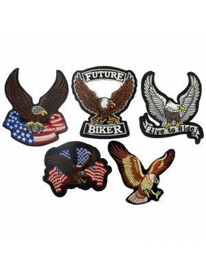 Wholesale Eagles Design Iron-On Patches - Assorted Designs