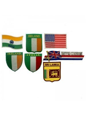 Wholesale Flags Iron-On Patches - Assorted Designs