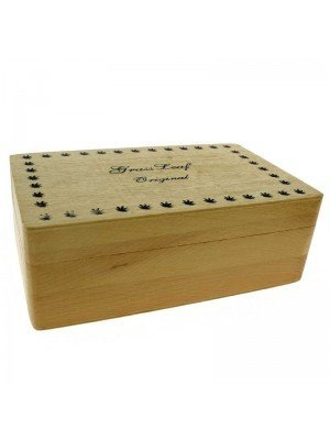 Wooden Rolling Box - Grass Leaf Original