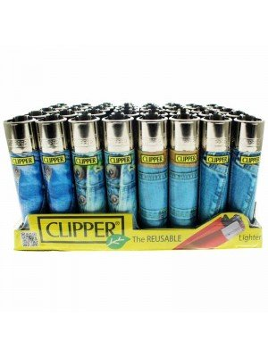 Clipper Reusable Lighter - Jeans (Assorted Designs)