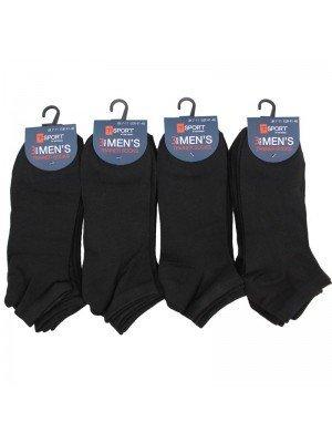 Wholesale Men's Trainer Socks T-Sport - Black (7-11 UK)