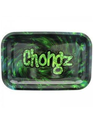 Chongz Green Leaves Design Rolling Tray - 27.5 x 17.5 cm