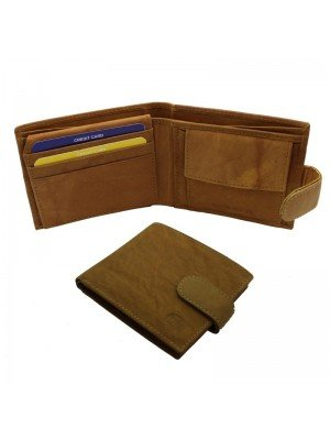 Wholesale Men's Florentino Leather Wallet With 9 Card Slots - Tan