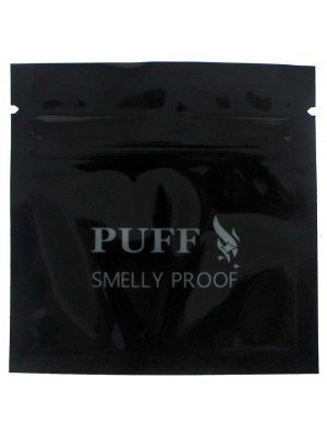 "Grip Seal Smelly Proof Baggies - Black 76.2mm x 76.2mm (3"" x 3"")"