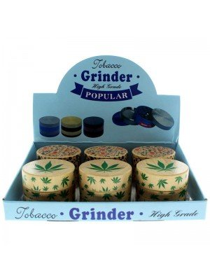 3-Part Wooden Tobacco Grinder - Assorted Designs