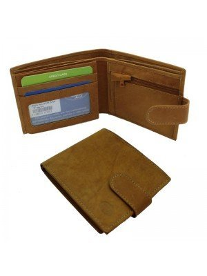 Wholesale Men's Florentino Leather Wallet With 7 Card Slots - Tan