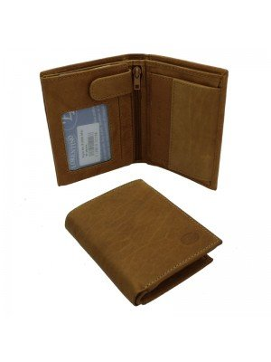 Wholesale Men's Florentino Leather Wallet With 6 Card Slots - Tan