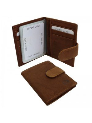 Wholesale Men's Florentino Leather Card Wallet - Tan