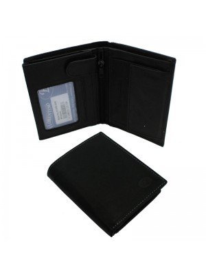 Wholesale Men's Florentino Leather Wallet With 8 Card Slots - Black
