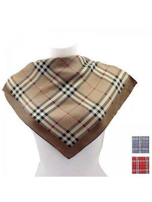 Wholesale Ladies' Square Scarves - Tartan Design (Assorted Colours)