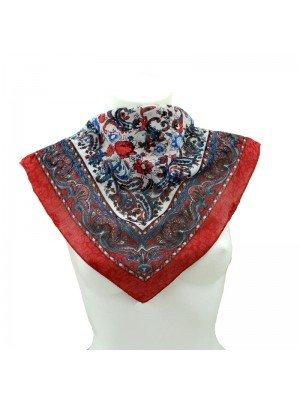 Wholesale Ladies' Square Scarves - Floral Paisley Print Design (Assorted Colours)