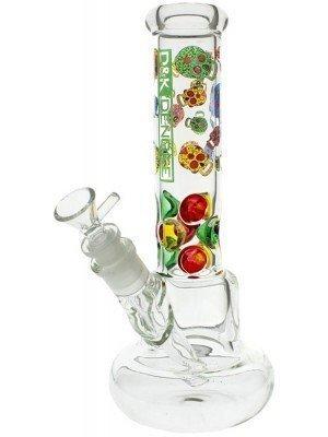 Dengke Glass Bong Skulls Design - 11 Inch