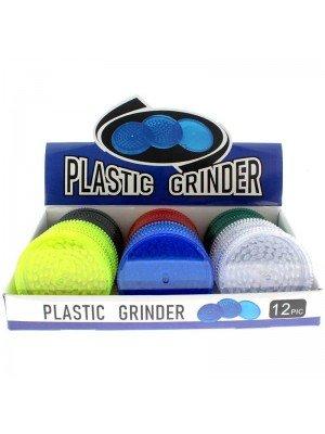 3-Part Plastic Grinder - Assorted Colours