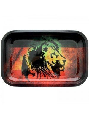 Lion Design Rolling Tray - 27.5 x 17.5 cm