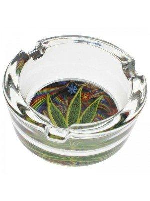 Glass Ashtray Leaf Design - 8.5cm