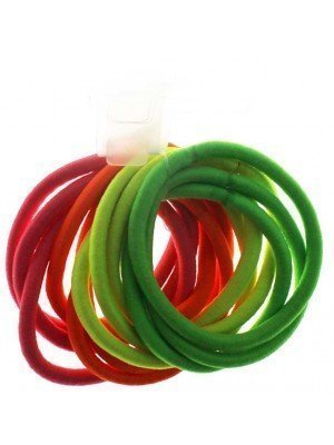 Wholesale Snag Free Neon Hair Elastics - Assorted