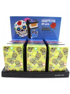 Champ Mini Skull Cigarette Pack Storage Box