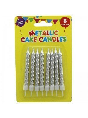 Metallic Cake Candles - Assorted Colours