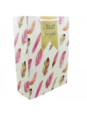 Wholesale Feather Design Gift Bag Assortment - Large (33cm x 25cm x 44cm)