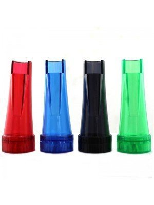 Wholesale 2 Part Lighter Holder & Grinder Assorted Colours