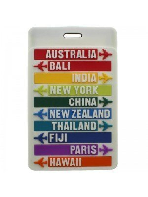 Luggage Tag - 10cm x 6.5cm (Assorted Colours)