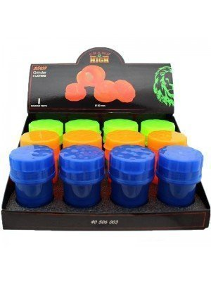 Wholesale 4-Part Plastic Grinders - Champ High Beach - Assorted Colours