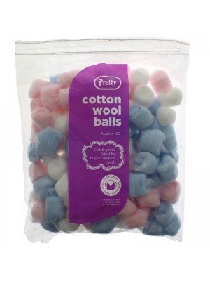 Pretty Cotton Wool Balls - Assorted Colours