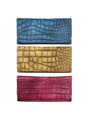 Champ Crocodile Tobacco Pouch - Assorted Colours