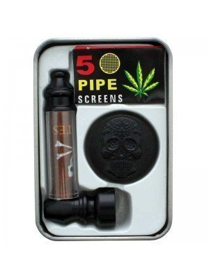 Metal Pipe with 2-Part Metal Grinder - Assorted Designs