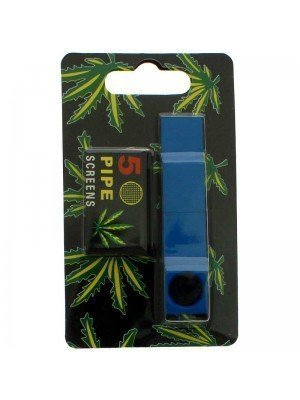 Magnetic Metal Smoking Pipe - Assorted Colours
