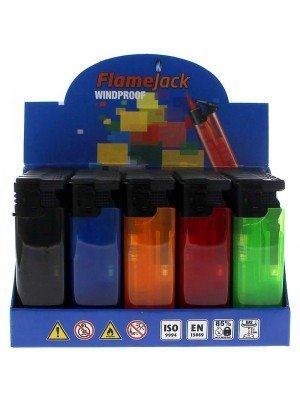 Flamejack Windproof Refillable Lighter - Assorted Colours