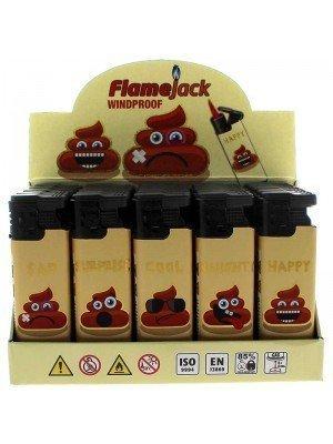 Flamejack Windproof Refillable Lighter - Emojis