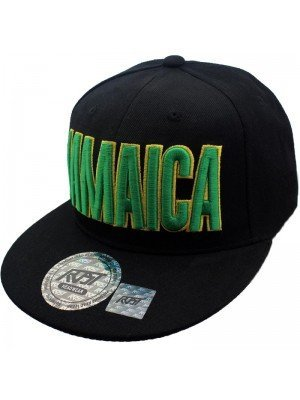 Wholesale Jamaican Flag Printed Snapback - Black