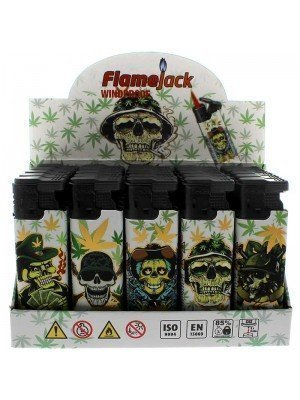 Flamejack Windproof Refillable Lighter - Skulls