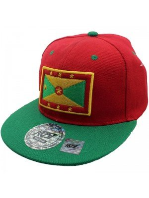 Wholesale Grenada Flag Snapback - Red